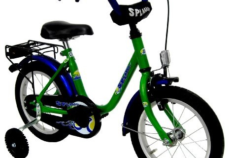 "Kinderfahrrad 14"" Zoll (=35,6cm) SPLAAASH grün blau (2014)"