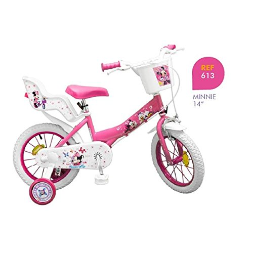 toimsa 14 zoll kinderfahrrad minnie m dchen 4 5 6 7 jahren. Black Bedroom Furniture Sets. Home Design Ideas